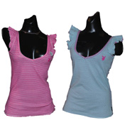 Playboy Reversible Vest Top Pink 10